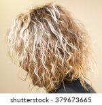 wavy blond hair girl as... | Shutterstock . vector #379673665