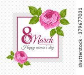 congratulation 8 march card.... | Shutterstock .eps vector #379677031