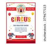circus greatest show poster... | Shutterstock .eps vector #379677115