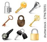 Keys And Locks Icons Detailed...