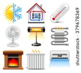 heating and cooling icons... | Shutterstock .eps vector #379678369