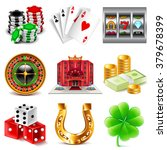 casino and gambling icons... | Shutterstock .eps vector #379678399