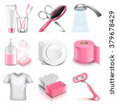 hygiene icons detailed photo... | Shutterstock .eps vector #379678429