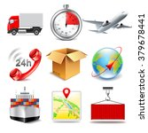 logistics icons detailed photo... | Shutterstock .eps vector #379678441