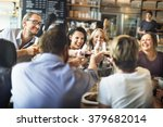 dinner dining wine cheers party ... | Shutterstock . vector #379682014