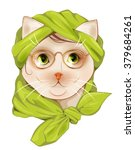 portrait of the hipster cat... | Shutterstock .eps vector #379684261
