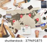 business travel meeting... | Shutterstock . vector #379691875
