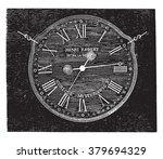 Robert Henri clock, vintage engraved illustration. Magasin Pittoresque 1880.