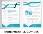 vector brochure flyer design... | Shutterstock .eps vector #379694845