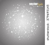 glow light effect. vector... | Shutterstock .eps vector #379695145