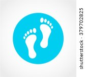 footprint icon isolated on...