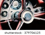 classic car interior with close ...