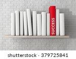Red Success Book On A Shelf...