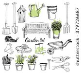 vector set of gardening | Shutterstock .eps vector #379726687
