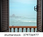 Open Window With View On Sea