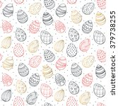 Easter Background With Eggs...