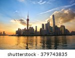 skyline of shanghai pudong at... | Shutterstock . vector #379743835