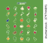 thirty isolated vegetable... | Shutterstock .eps vector #379744891