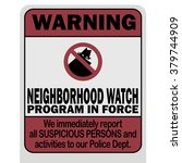 neighborhood watch warning sign ...
