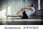 young fit man exercising in a... | Shutterstock . vector #379747825