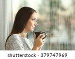 side view portrait of a pensive ... | Shutterstock . vector #379747969