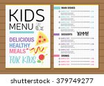 cute colorful kids meal menu... | Shutterstock .eps vector #379749277