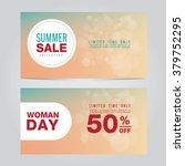 summer sale collection. vector...   Shutterstock .eps vector #379752295