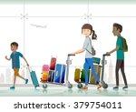 family travelers traveling... | Shutterstock .eps vector #379754011