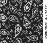 paisley seamless pattern.... | Shutterstock .eps vector #379755544