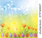 easter spring colorful vector...   Shutterstock .eps vector #379760047