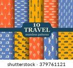 cute set of seamless patterns... | Shutterstock .eps vector #379761121