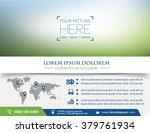 vector brochure  flyer ... | Shutterstock .eps vector #379761934