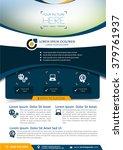 vector brochure  flyer ... | Shutterstock .eps vector #379761937