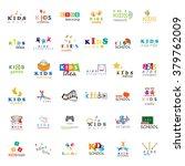 children icons set vector... | Shutterstock .eps vector #379762009