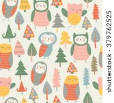 vector seamless background with ... | Shutterstock .eps vector #379762525