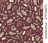 seamless floral pattern on dark ... | Shutterstock .eps vector #379766071