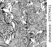 black and white vector seamless ...   Shutterstock .eps vector #379774411