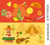 mexico banners mexican culture... | Shutterstock .eps vector #379774915