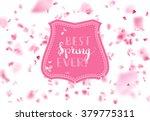 vector spring falling petals... | Shutterstock .eps vector #379775311