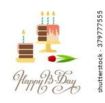 happy birthday greeting card.... | Shutterstock .eps vector #379777555