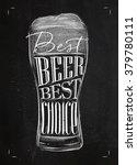 poster beer glass lettering...   Shutterstock .eps vector #379780111