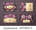 vector vintage visiting card... | Shutterstock .eps vector #379785271