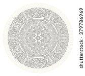 round mandala  abstract... | Shutterstock .eps vector #379786969