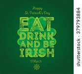 Typographic Saint Patrick\'s Da...