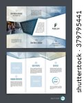 abstract three fold brochure... | Shutterstock .eps vector #379795441