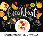 breakfast time illustration... | Shutterstock .eps vector #379796965