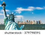 view to downtown manhattan and... | Shutterstock . vector #379798591