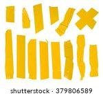 adhesive yellow tape set.... | Shutterstock . vector #379806589