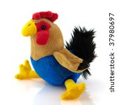Stuffed Rooster Sitting At The...