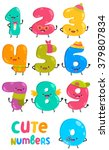 cute funny numbers. adorable... | Shutterstock .eps vector #379807834